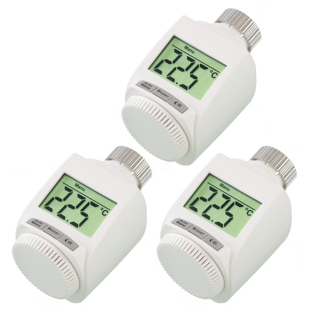 komforthaus max heizk rperthermostat set f r 3 r ume pro. Black Bedroom Furniture Sets. Home Design Ideas